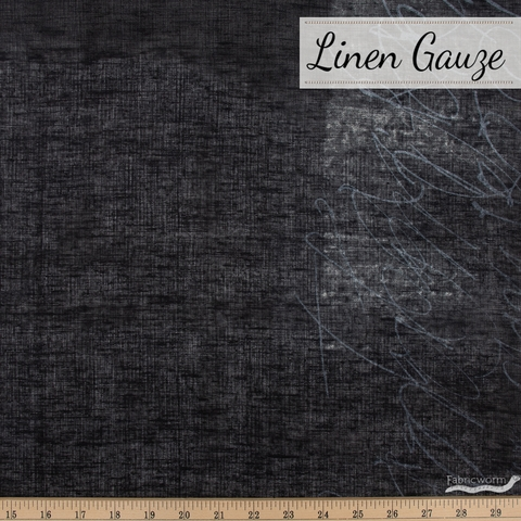 Naomi Ito for Kokka Japan, Nani Iro Linen Gauze, Ripple Black