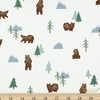 Natalia Juan Abello for Riley Blake, Camp Woodland, Grizzly Bears Off White