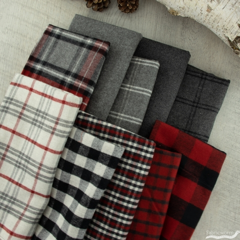 Northcott, West Creek Wovens, Flannel Charcoal