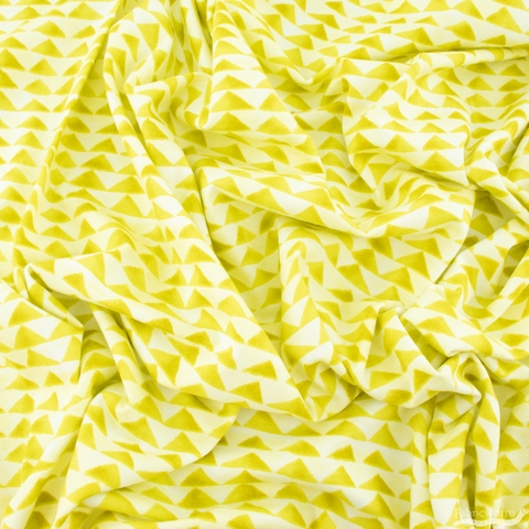 Oka Emi for Cotton and Steel, Once Upon A Time Jersey Knit, Little Mountain Citron