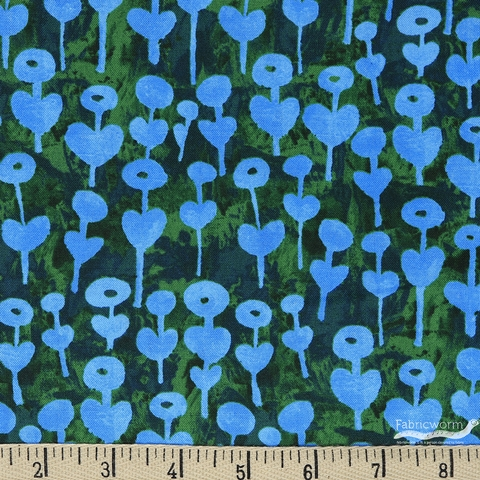 Oka Emi for Cotton and Steel, Once Upon A Time, Love Flower Blue