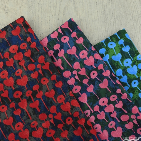 Oka Emi for Cotton and Steel, Once Upon A Time, Love Flower Red