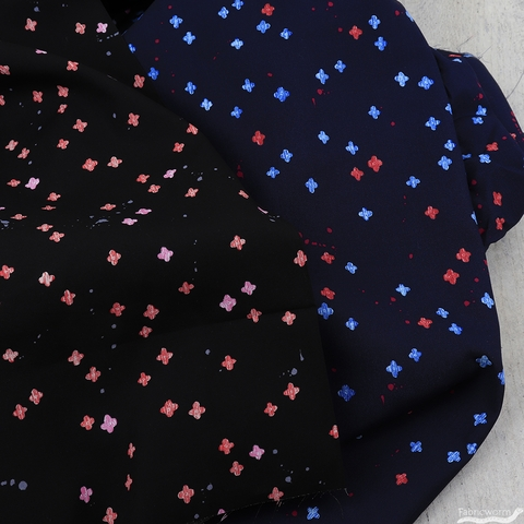 Oka Emi for Cotton and Steel, Once Upon A Time Rayon, Bouquet Burst Jet