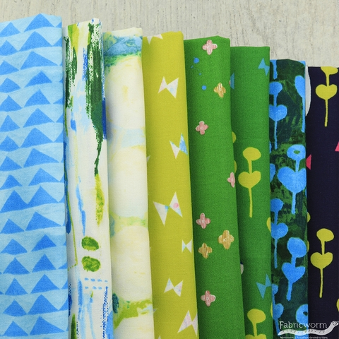Oka Emi for Cotton and Steel, Once Upon A Time, Spring Concert in FAT QUARTERS 8 Total (PRECUT)