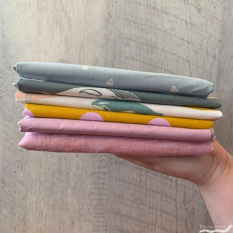One of a Kind Fabricworm Custom Fat Quarter Bundle Thirty-Two, 6 Total