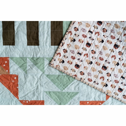 Open Road Far Lands Quilt Kit by Toad & Sew Featuring Birch Organic Fabrics