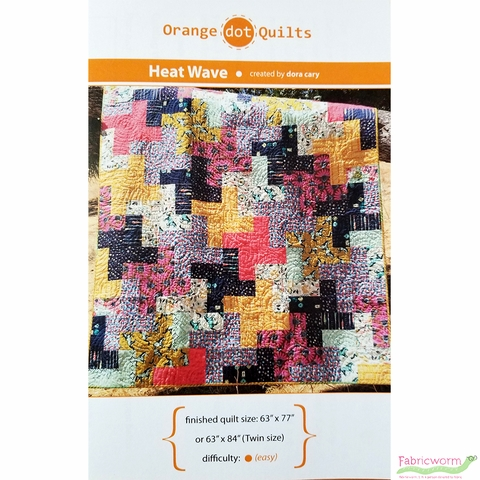 Orange Dot Quilts, Sewing Pattern, Heat Wave