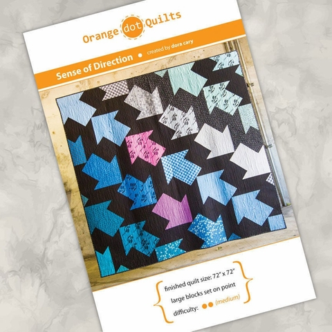 Orange Dot Quilts, Sewing Pattern, Sense of Direction