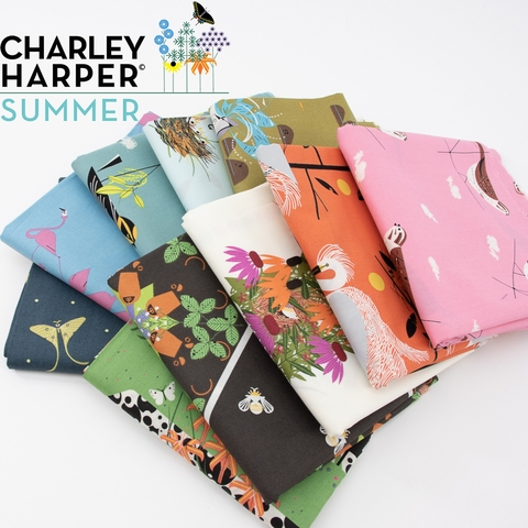 Parallel Path Quilt Kit Featuring Charley Harper Summer From Sew Brainy Designs