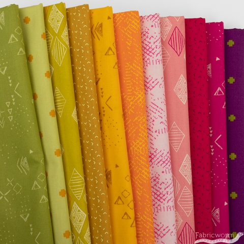 Pat Bravo for Art Gallery, Matchmade, Golden Berries in FAT QUARTERS 11 Total