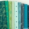 Pat Bravo for Art Gallery, Matchmade, Midnight Foliage in FAT QUARTERS 9 Total (PRECUT)