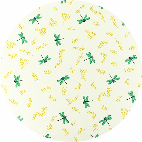 Patrick and Andrea Patton for Birch Organic Fabrics, Swan Lake, Dragonflies Cream