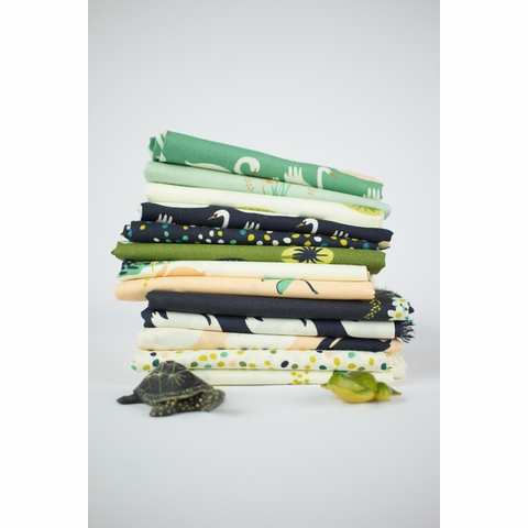Patrick and Andrea Patton for Birch Organic Fabrics, Swan Lake, Frog Pad Moss