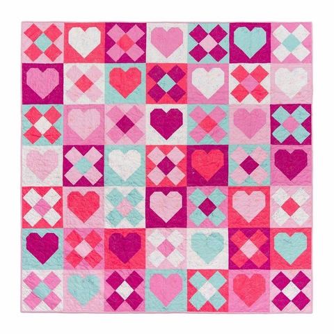 Pen + Paper, Sewing Patterns, Be Mine Quilt