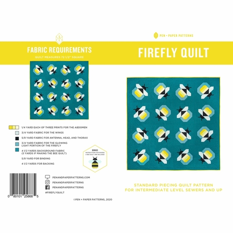 Pen + Paper, Sewing Patterns, Firefly Quilt