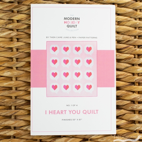 Pen + Paper, Sewing Patterns, I Heart You Quilt