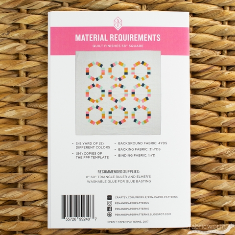 Pen + Paper, Sewing Patterns, Taffy Pull Quilt