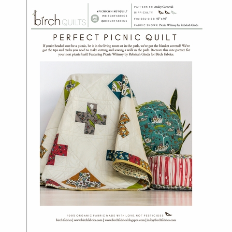 Perfect Picnic Quilt Kit Featuring Picnic Whimsy