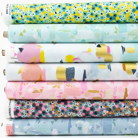 Piet en Kees for Cotton and Steel, Girl's Club in HALF YARDS 7 Total