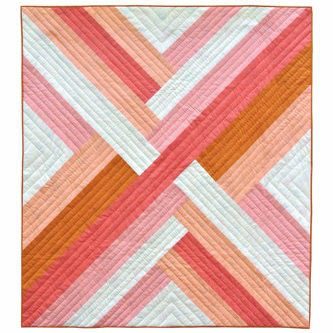 Pink Maypole Quilt Kit Featuring Mod Basics' Solids