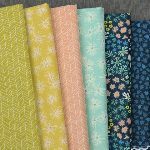 Pippa Shaw for FIGO, Mountain Meadow, Breeze in FAT QUARTERS 6 Total (PRECUT)