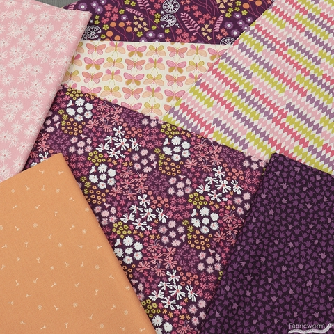 Pippa Shaw for FIGO, Mountain Meadow, Flora in FAT QUARTERS 7 Total