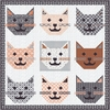 Prairie Grass Designs by April Rosenthal, Sewing Pattern, Kitty Kitty Quilt