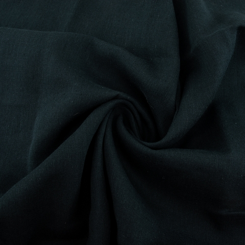 Birch Organic Fabrics, Solid Double Gauze, Jet Black
