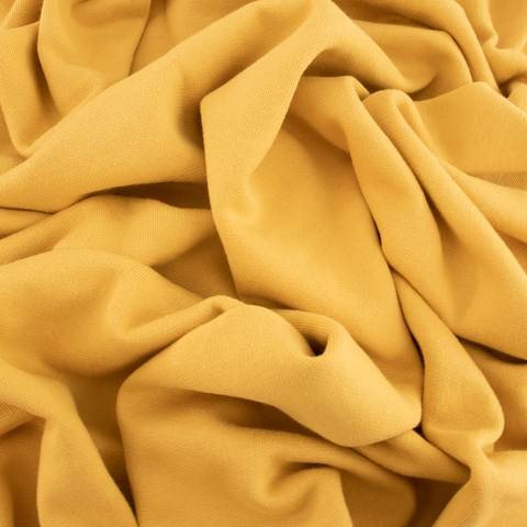 Birch Organic Fabrics, Sweatshirt Fleece, Solid Honey