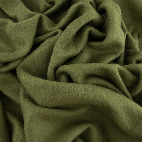 Birch Organic Fabrics, Sweatshirt Fleece, Solid Jungle Green