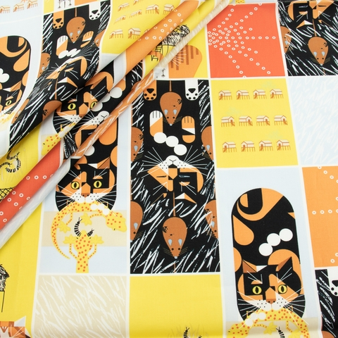 Charley Harper, Cats and Raccs Vol.2, Cat and Mouse