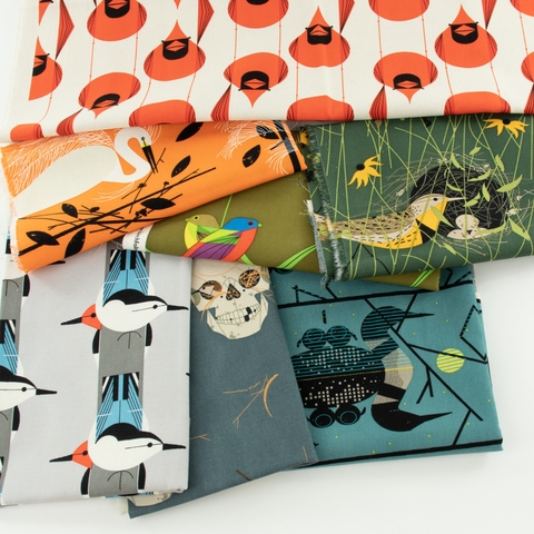 Charley Harper for Birch Organic, Canvas 2021, Giant Cardinal Stagger