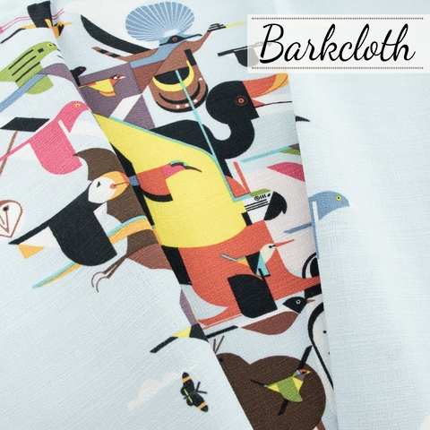 PREORDER NOW, Charley Harper for Birch Organic Fabrics, Barkcloth 2021, Wings Of The World