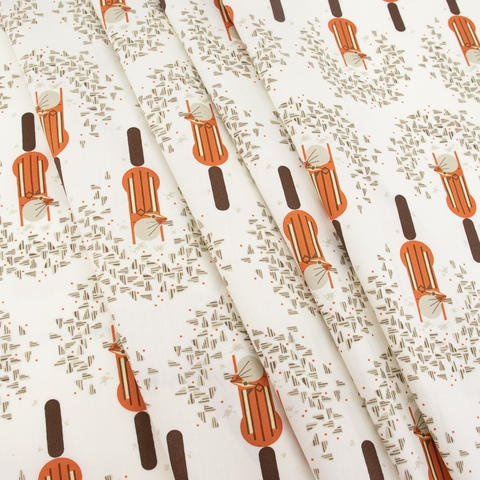 Charley Harper for Birch Organic Fabrics, Lakehouse Vol. 1, Cheeky Chippie