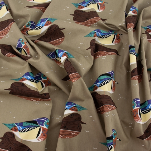 Charley Harper for Birch Organic Fabrics, Lakehouse Vol. 1, Wood Duck