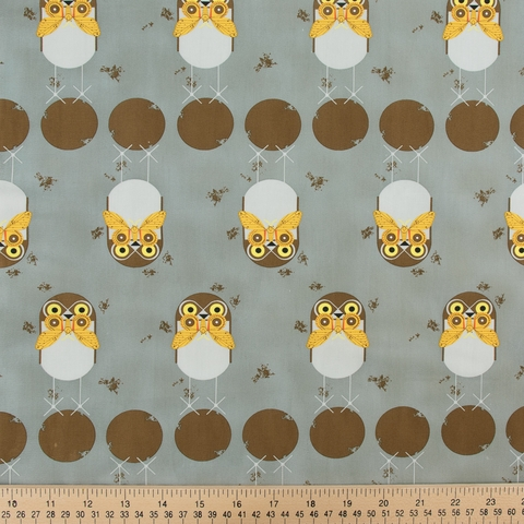 Charley Harper for Birch Organic Fabrics, Lakehouse Vol. 2, Burrowing Owl