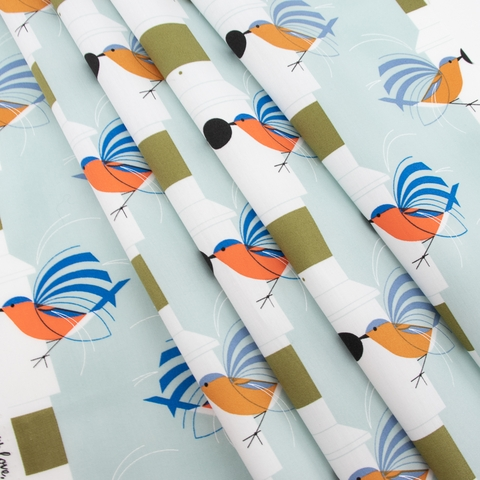 Charley Harper for Birch Organic Fabrics, Lakehouse Vol. 2, Homecoming