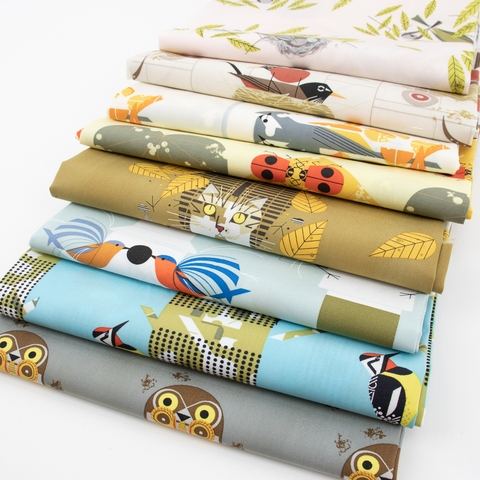 Charley Harper for Birch Organic Fabrics, Lakehouse Vol. 2 in HALF YARDS 8 Total