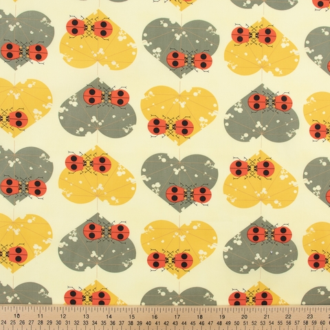 PREORDER NOW, Charley Harper for Birch Organic Fabrics, Lakehouse Vol. 2, Ladybug Lovers