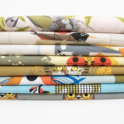 PREORDER NOW, Charley Harper for Birch Organic Fabrics, Lakehouse Vol. 2, Yellow Bellied Sapsucker