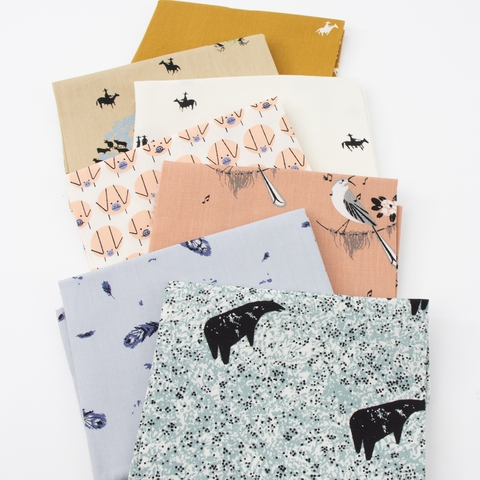 Charley Harper for Birch Organic Fabrics, New Frontier in FAT QUARTERS 7 Total