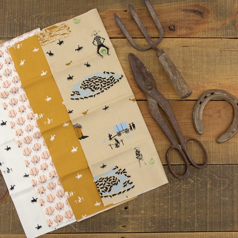 Charley Harper for Birch Organic Fabrics, New Frontier in HALF YARDS 7 Total