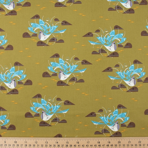 Charley Harper for Birch Organic Fabrics, Summer, Bluejay Bath
