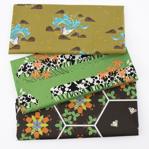 Charley Harper for Birch Organic Fabrics, Summer, Cow Line