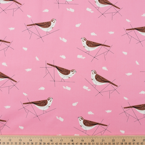 Charley Harper for Birch Organic Fabrics, Summer, Song Sparrow