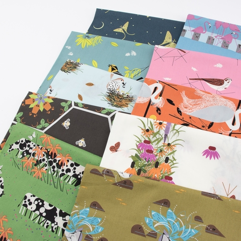 Charley Harper for Birch Organic Fabrics, Summer, Wildflowers