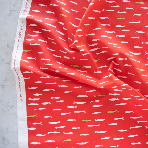 PREORDER NOW, Jay-Cyn Designs for Birch Organic Fabrics, Camp Holiday, New School Red Tide