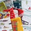 PREORDER NOW, Jay-Cyn Designs for Birch Organic Fabrics, Camp Holiday, Squares and Dashes Holiday