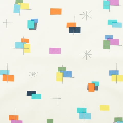 Jay-Cyn Designs for Birch Organic, Just For Fun Vol. 3, Squares and Dashes Bright Multi