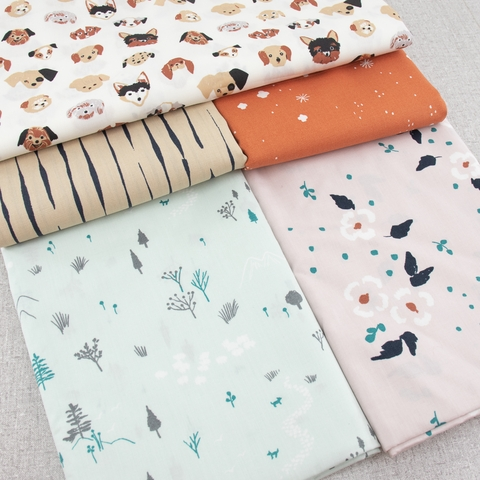 Jenny Ronen for Birch Organic, Dog Park, Dosey Doe Floral Heather
